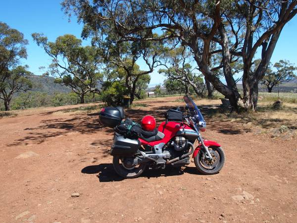 My Moto Guzzi  loaded up while touring