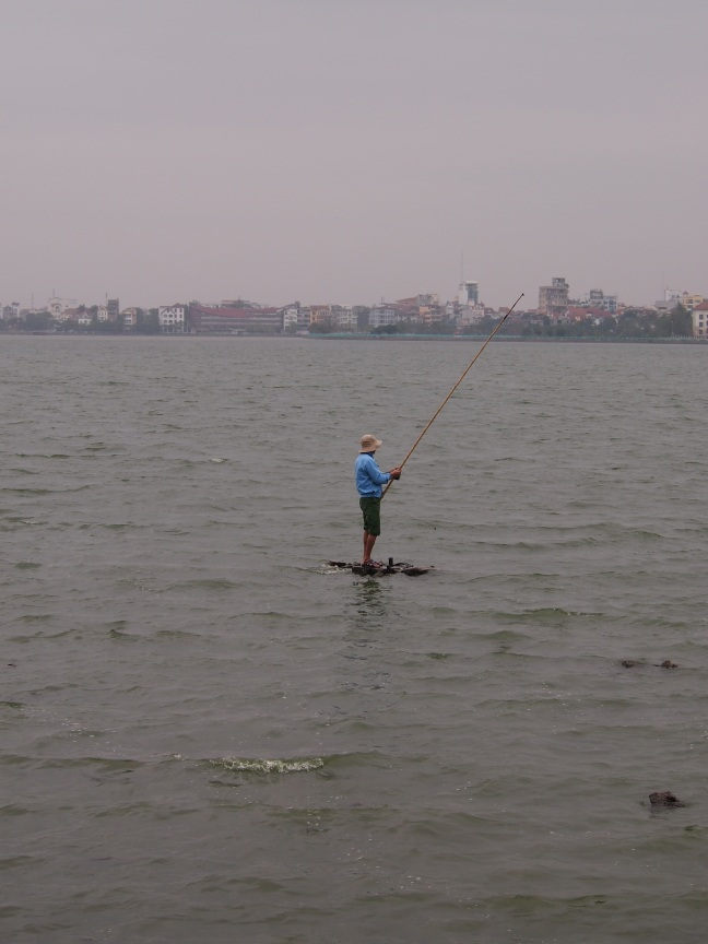 Fishing in West Lake