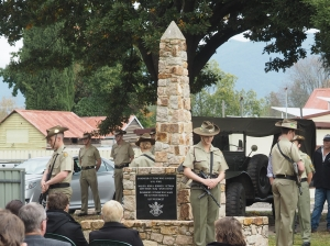 ANZAC Day service in Walwa