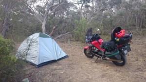 Camp at Salt water creek
