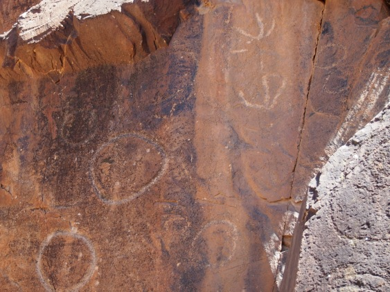 Aboriginal markings in Sacred Canyon near Wilpena Pound