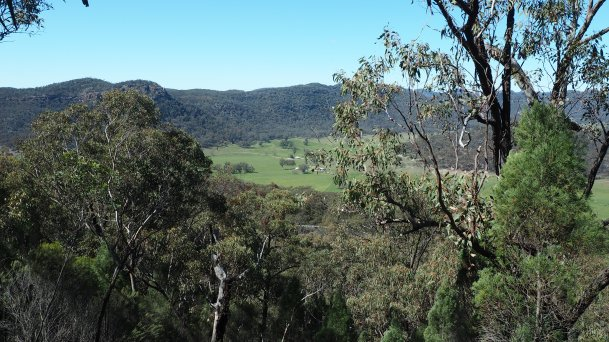 Looking to the Blue Mountains over the Bylong Valley