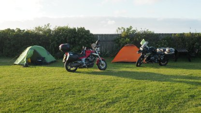 Camped in Denmark